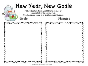 New Year, New Goals - An Expository Writing Activity