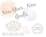 New Year New Goals Bulletin Board Kit