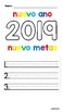 New Year New Goals in English and Spanish
