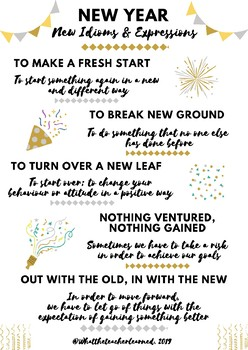 New Year New Idioms and expressions