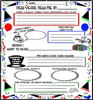 New Year, New Me Activity Poster