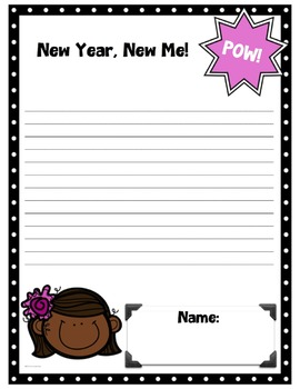 Happy New Year Writing Templates