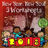 New Year, New You! 3 Worksheets for Reflection and Looking