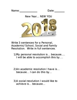 New Year New You Writing Prompts