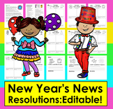 New Year's Resolutions 2019:  EDITABLE!