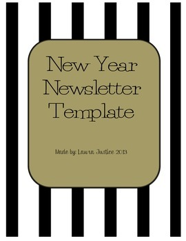 new year newsletter template by peace love and the fourth grade tpt