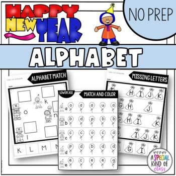 New Years No Prep Alphabet