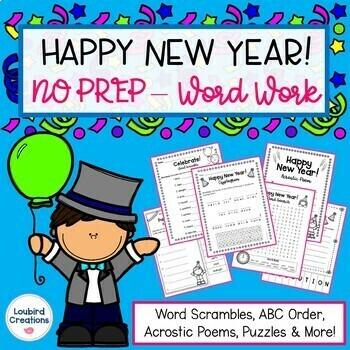 New Year No Prep Word Work
