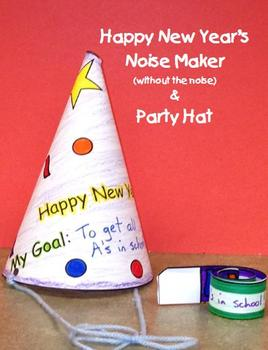 New Year Goals Noise Maker & Hat