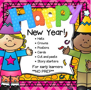 New Year Activities NO PREP for Preschool Pre-K and Kindergarten 2018