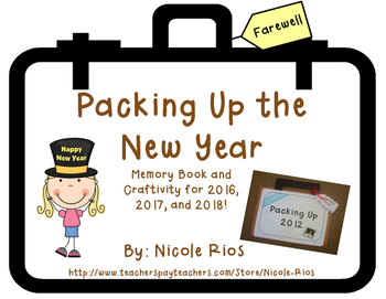 "New Year - ""Packing Up the Year"" Memory Book and Craftivity"