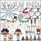 New Year Party Clipart by Bunny On A Cloud