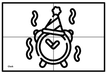 New Year, Party Collaborative Art Project, Coloring Pages, Elementary Art Plan