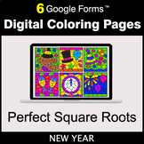 New Year: Perfect Square Roots - Google Forms | Digital Co