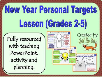 New Year Personal Targets Lesson for Grades 2 to 5 (2018)