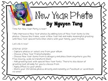 New Year Photo App and FREE Activity
