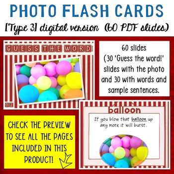New Year's Photo Flash Cards BUNDLE