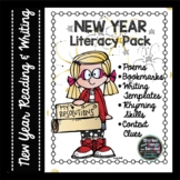 New Year Poetry, Reading, Rhyming & Writing Activities