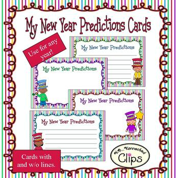 """""""New Year Predictions"""" Cards"""