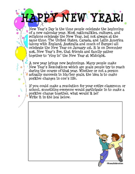 New Year Printable Activities