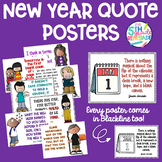 New Year Quote Posters-  *Color and ink friendly versions*