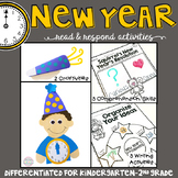 New Year: Reading Comprehension, Writing and Craftivities