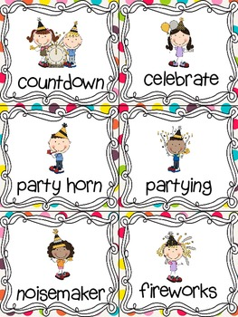New Year! Read, Write, and Count the Room {Literacy and Math Center} {CCSS}
