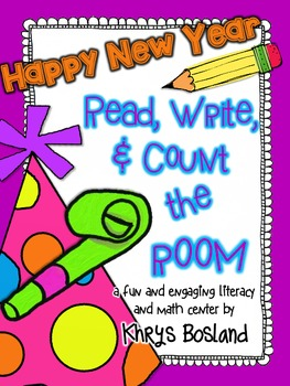 New Year! Read, Write, and Count the Room {Literacy and Ma