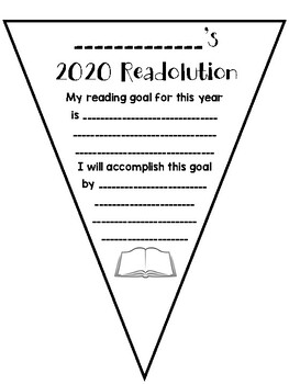 New Year's 2020 Reading Resolution Banner