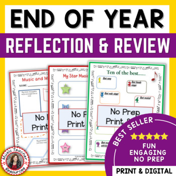 Music End of Year Reflection and Review Activities