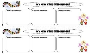 New Year Resolution Activities