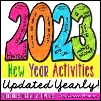 New Year Activities 2019 Resolution Goals Creative Growth Mindset