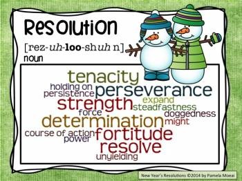 New Year Resolution Poster FREEBIE