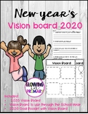 New Year's  Vision Board 2019 Setting Goals