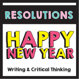 New Year Resolution Writing Activities - No Prep - Great for Centers