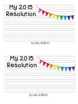New Year Resolution Writing FREEBIE