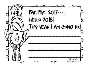 New Year Resolution freebie