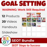 Goal Setting Bundle ⭐ EASY ADVISORY activities, slideshow,
