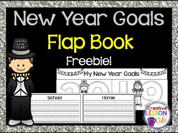 New Year Resolutions {Goals} Flap Book Freebie
