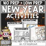 New Year Resolutions Mini-Activity Pack // Editable Bingo Cards