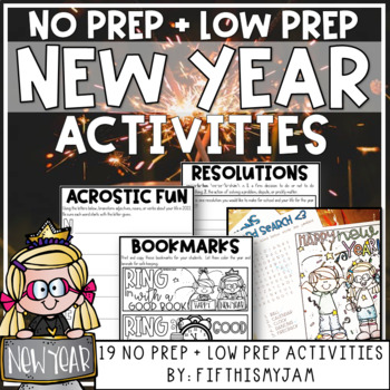 New Year Resolutions Mini-Activity Pack // Editable Bingo Cards