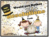 New Year Resolutions Would You Rather Cards