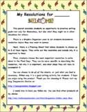 New Year Resolutions Writing Activity 2018