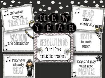 New Year Resolutions for the Music Room {Bulletin Board}