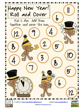 New Year Roll and Cover FREEBIES!