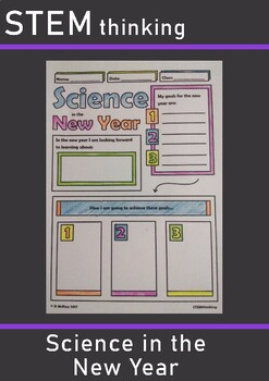 New Year Science Doodle Notes Elementary Middle School