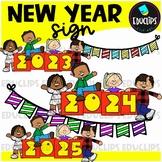New Year Sign Clip Art {Educlips Clipart}