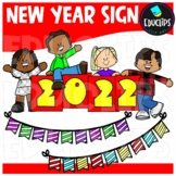 New Year Sign Clip Art {Educlips Clipart}