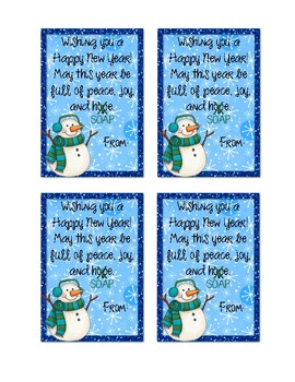 New Year Soap Gift Tags (Editable)