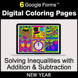 New Year: Solving Inequalities with Addition & Subtraction